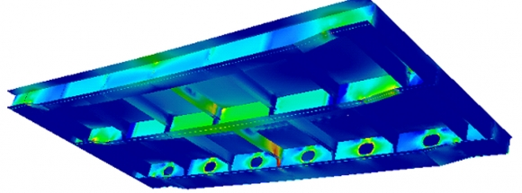 A pictoral view of the Hatch FEA Results