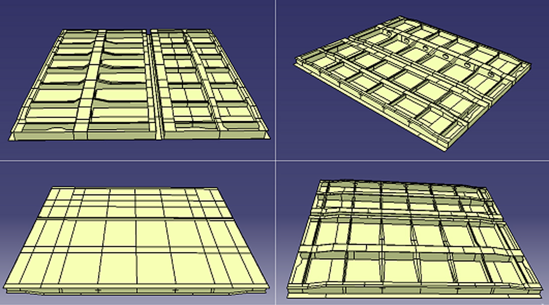 A 3D visual of a Model of the Hatches created for analysis