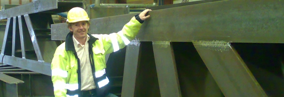 UK Greater Gabbard grillage being manufactured.