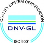 ISO 9001 2015 DNVGL certified