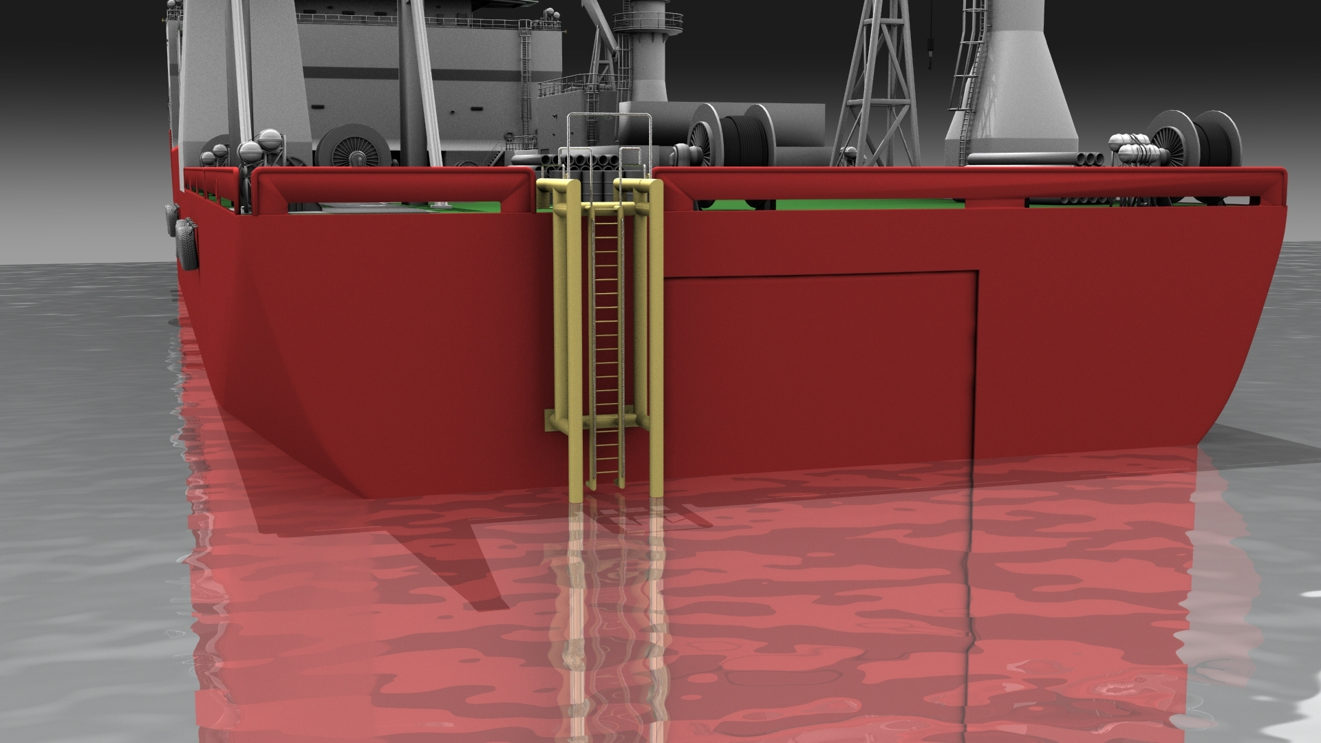 Boatlanding 3D Model with Vessel